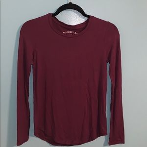 Aeropostale Seriously Soft Maroon Long Sleeve Tee